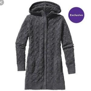 Patagonia Charcoal Merino Wool Sweater Jacket L